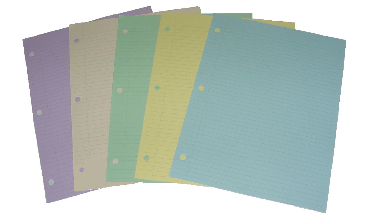 colored college ruled paper This wirebound notebook features a durable poly front cover and a coated  natural kraft back cover, built to last through a year of note-taking the neat  sheet.
